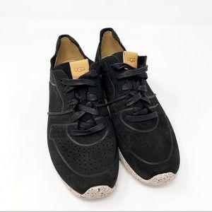 UGG Shoes - UGG Treadlite Tye Black Leather Sneakers 7.5